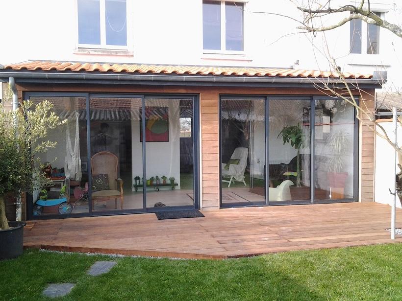 Extension sur jardin for Fenetre trois vantaux